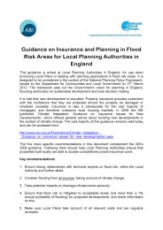 Guidance on insurance and planning in flood risk areas for Local Planning Authorities in England
