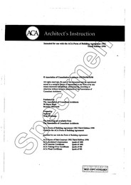 Architect's instruction. Intended for use with the ACA Form of building agreement 1982. 3rd edition 1998