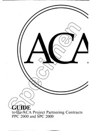 Guide to the ACA Project partnering contracts PPC 2000 and SPC 2000