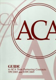 Guide to ACA term partnering contracts TPC2005 and STPC2005