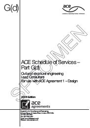 Schedule of services to be undertaken by a lead consultant. Civil and structural engineering (Awaiting copyright clearance for latest edition)
