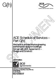 Schedule of services for a consultant appointed by design and construct contractor. Mechanical and electrical engineering (performance design in buildings)