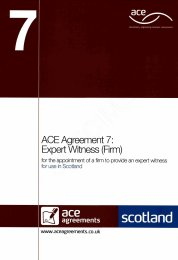 Expert witness (firm) (For use in Scotland)