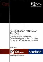 Schedule of services - Part G(a): Civil and structural engineering - Single consultant or non-lead consultant