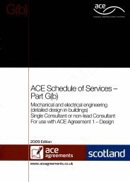 Schedule of services - Part G(b): Mechanical and electrical engineering (detailed design in buildings) - Single consultant or non-lead consultant