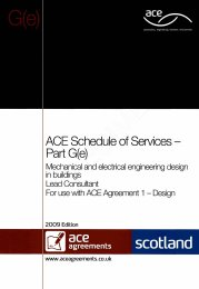 Schedule of services - Part G(e): Mechanical and electrical engineering design in buildings - Lead consultant