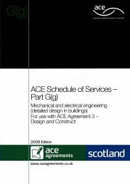 Schedule of services - Part G(g): Mechanical and electrical engineering (detailed design in buildings)
