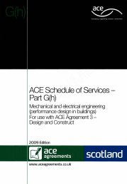 Schedule of services - Part G(h): Mechanical and electrical engineering (performance design in buildings)