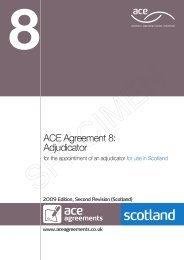 Adjudicator (For use in Scotland) (2009 edition, second revision (Scotland))