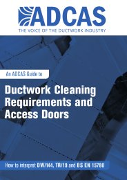Ductwork cleaning requirements and access doors. How to interpret DW/144, TR/19 and BS EN 15780
