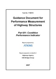 Guidance document for performance measurement of highway structures. Part B1: Condition performance indicator