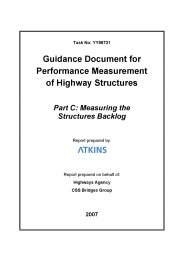 Guidance document for performance measurement of highway structures. Part C: Measuring the structures backlog