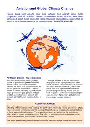 Aviation and global climate change