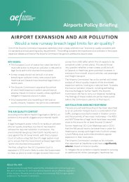 Airport expansion and air pollution - would a new runway breach legal limits for air quality?