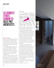 2A Sewdley Street, London E5. Giles Pike Architects. AJ Specification 12.2015