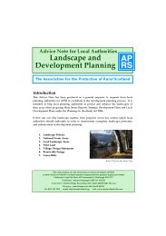 Landscape and development planning
