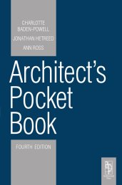Architect's pocket book. 4th edition