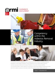 Guidance document: competency within the asbestos removal industry