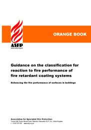 Guidance on the classification for reaction to fire performance of fire retardant coating systems: enhancing the fire performance of surfaces in buildings (Orange book)