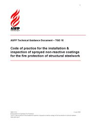 Code of practice for the installation and inspection of sprayed non-reactive coatings for the fire protection of structural steelwork