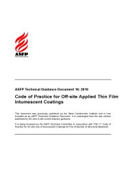 Code of practice for the off-site applied thin film intumescent coatings