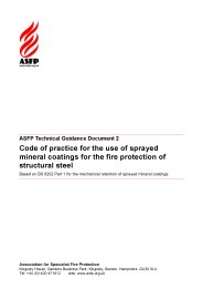 Code of practice for the use of sprayed mineral coatings for the fire protection of structural steel: Based on BS 8202 Part 1 for the mechanical retention of sprayed mineral coatings