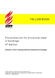 Fire protection for structural steel in buildings (Yellow book). Volume 2: Part 4: Sprayed reactive  intumescent coatings. Section 10:4. 4th edition (Revised June 2010)
