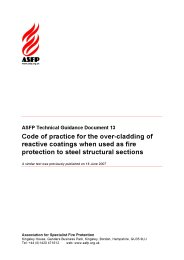 Code of practice for the over-cladding of reactive coatings when used as fire protection to steel structural sections