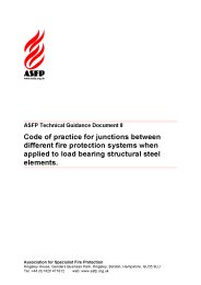 Code of practice for junctions between different fire protection systems when applied to load bearing structural steel elements