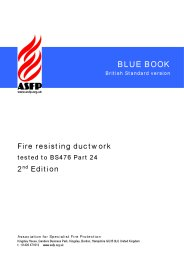 Fire resisting ductwork - tested to BS 476 Part 24 (Blue book). British Standard version. 2nd edition (Withdrawn)