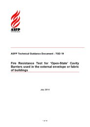 Fire resistance test for 'open-state' cavity barriers used in the external envelope or fabric of buildings
