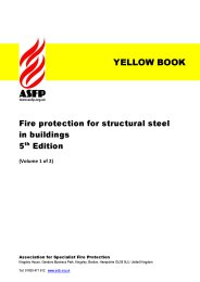 Fire protection for structural steel in buildings. 5th edition. (Volume 1 of 2). (Yellow book)