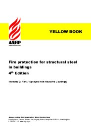 Fire protection for structural steel in buildings (Yellow book). Volume 2: Part 3: Sprayed non-reactive coatings. Section 10:3 Product data sheets. 4th edition (Revised Feb 2013)