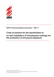 Code of practice for the specification and on-site installation of intumescent coatings for fire protection of structural steelwork