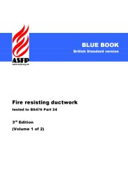 Fire resisting ductwork - tested to BS 476 Part 24. 3rd edition. Volume 1 of 2 (Blue book) (British Standard version)