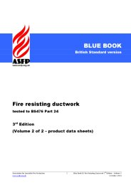 Fire resisting ductwork - tested to BS 476 Part 24. 3rd edition. Volume 2 of 2 - product data sheets (Blue book) (British Standard version)