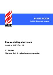 Fire resisting ductwork - tested to BS 476 Part 24. 3rd edition. Volume 3 of 3 - rules for assessments (Blue book) (British Standard version)