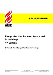 Fire protection for structural steel in buildings (Yellow book). Volume 2: Part 3: Sprayed non reactive coatings. Section 10:3 Product data sheets. 4th edition (Revised August 2017)