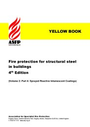 Fire protection for structural steel in buildings. 4th edition (Yellow book). (Volume 2: Part 4: Sprayed reactive intumescent coatings). Section 10:4. (Revised March 2010)