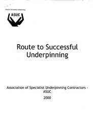 Route to successful underpinning
