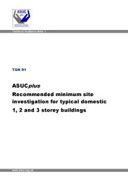 ASUC recommended minimum site investigation for typical domestic 1, 2 and 3 storey buildings