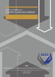 Guidelines on contracts and procurement