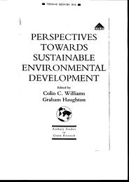 Perspectives towards sustainable environmental development