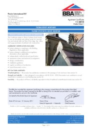Flexim International BV. Flexim Roof Mortars. Flexim Synthetic Roof Mortar.  Product Sheet 1
