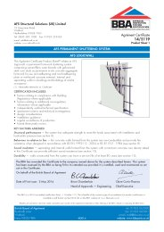 AFS Structural Solutions (UK) Limited. AFS permanent shuttering system. AFS Logicwall. Product sheet 1