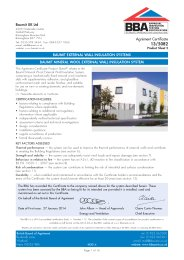 Baumit UK Ltd. Baumit external wall insulation systems. Baumit mineral wool external wall insulation system. Product sheet 2