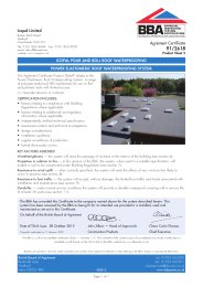 Icopal Limited. Icopal Pour and Roll roof waterproofing. Power Elastomeric roof waterproofing system. Product sheet 2