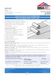 Icopal Limited. Icopal Pour and Roll roof waterproofing. Icopal Vapourbar vapour control layer. Product sheet 4