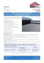 Icopal Limited. Icopal Pour and Roll roof waterproofing. HT roof waterproofing system. Product sheet 1