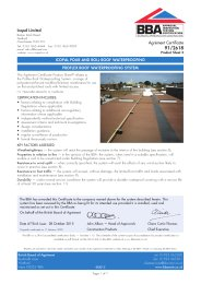 Icopal Limited. Icopal Pour and Roll roof waterproofing. Proflex roof waterproofing system. Product sheet 3